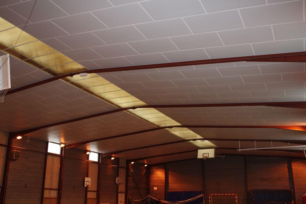 r fection du plafond du gymnase de montfort sur risle bth batiment plafonds suspendus. Black Bedroom Furniture Sets. Home Design Ideas